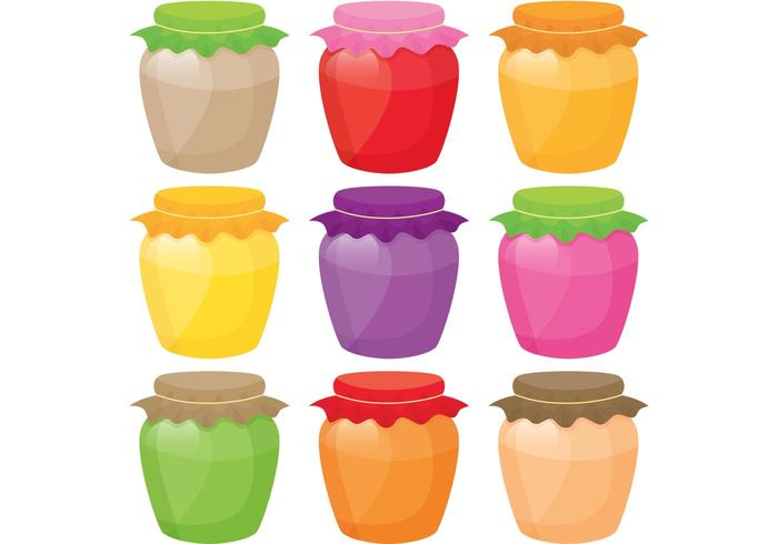 Colouful Jar Vectors