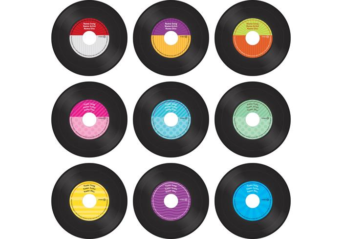 Colorful Vinyl Record Vectors