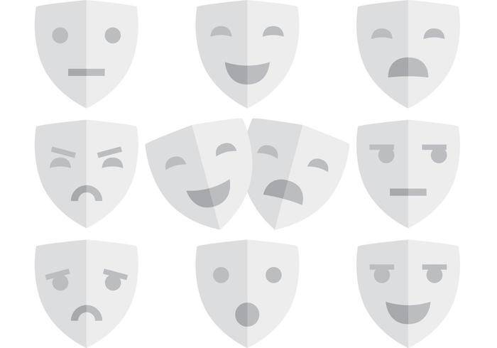 Theatre Face Mask Vectors