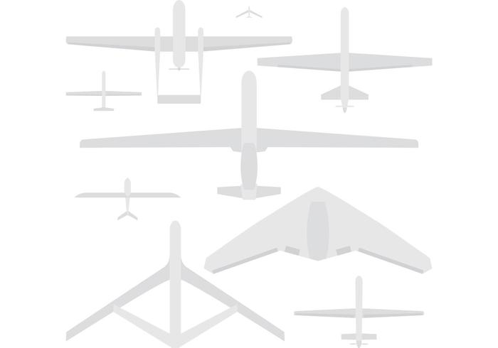 Militära Drone Vektorer