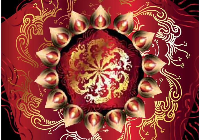 Free Happy Diwali Vector Background