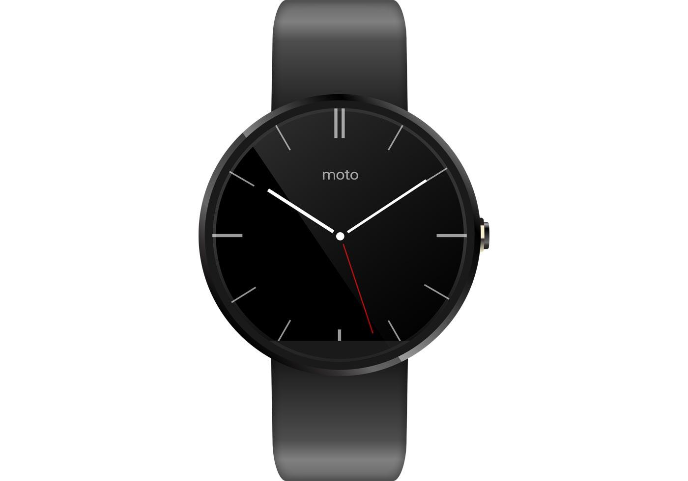 Moto 360 Watch Vector