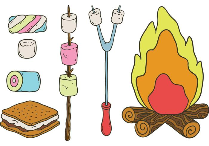 Free Camp Marshmallows Vectors