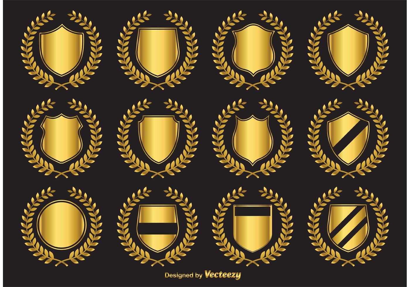 golden crest vector emblems download free vector art