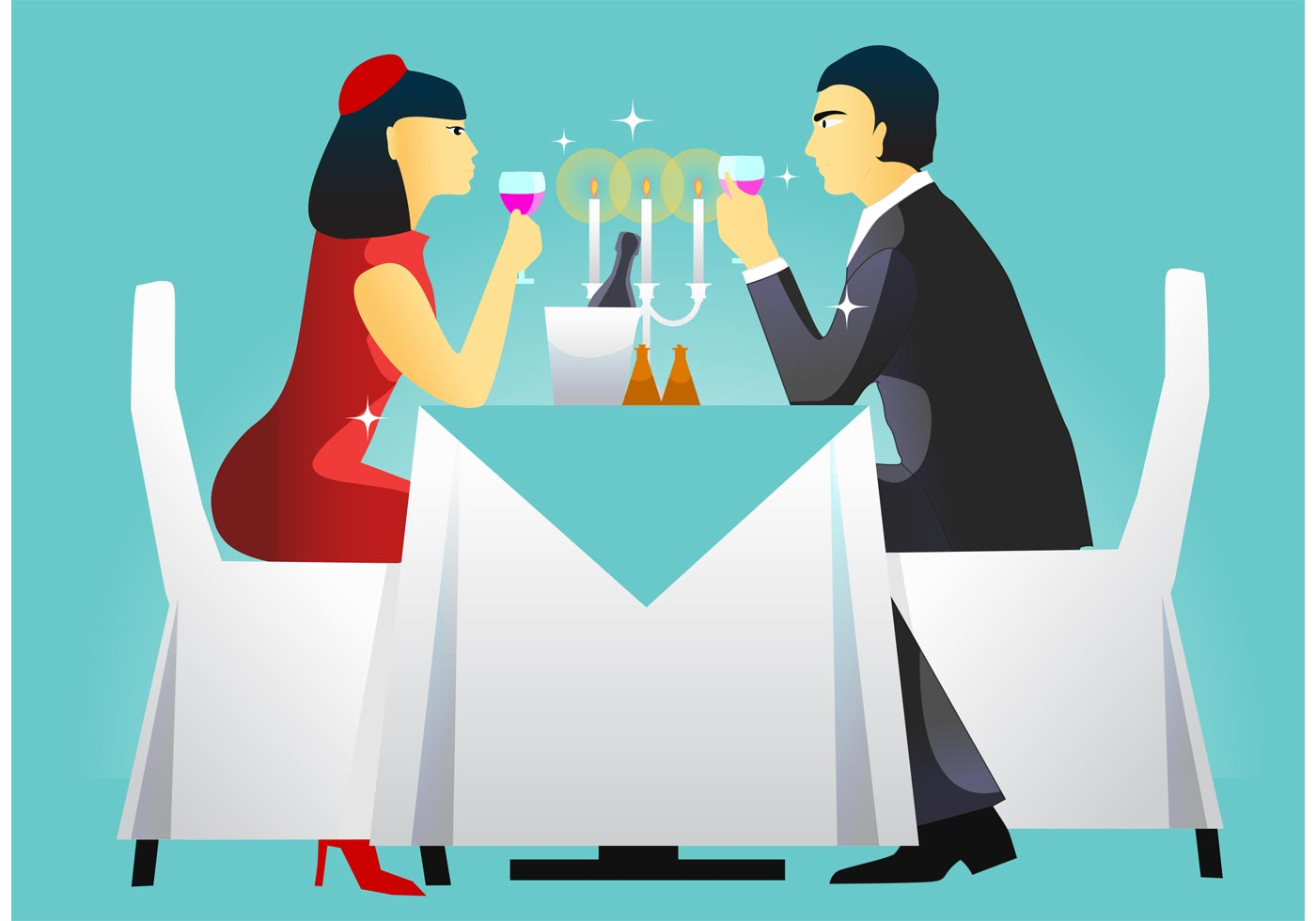 Dinner Table Setting Vector - Download Free Vector Art ... Dining Chair Clipart