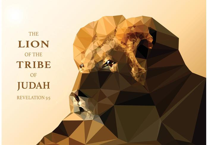 Free Vector Polygonal Lion von Judah Wallpaper