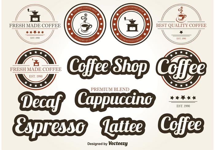 Coffee Vector Labels