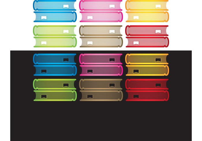 Colorful Stack of Books Vector