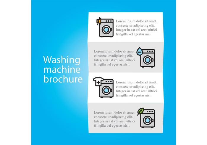 Wasmachine Brochure Vector Sjabloon