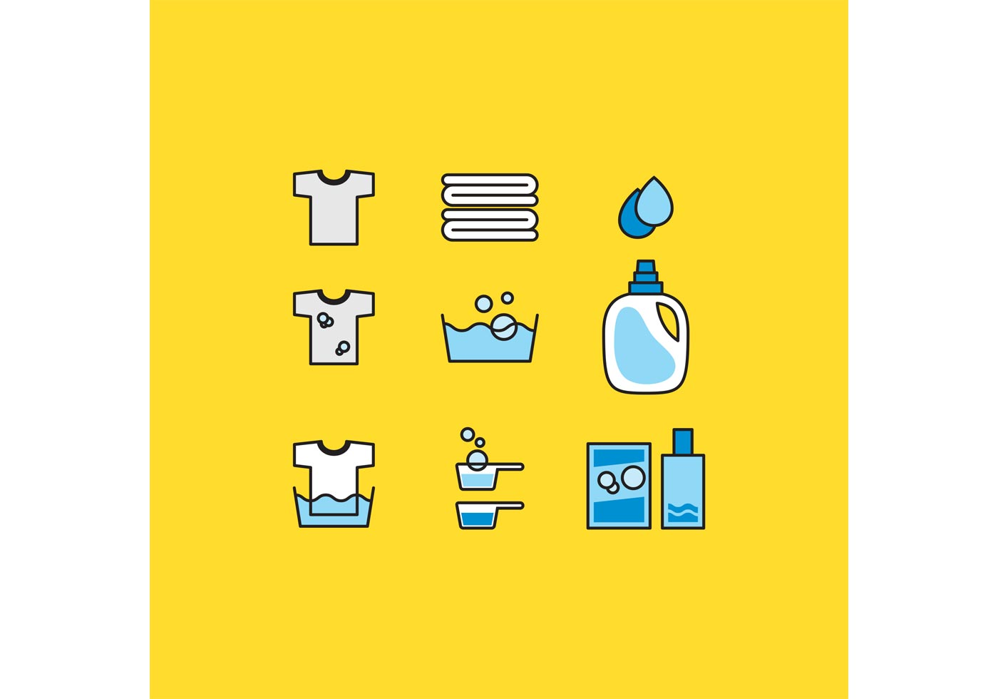 laundry vector icons download free vector art stock
