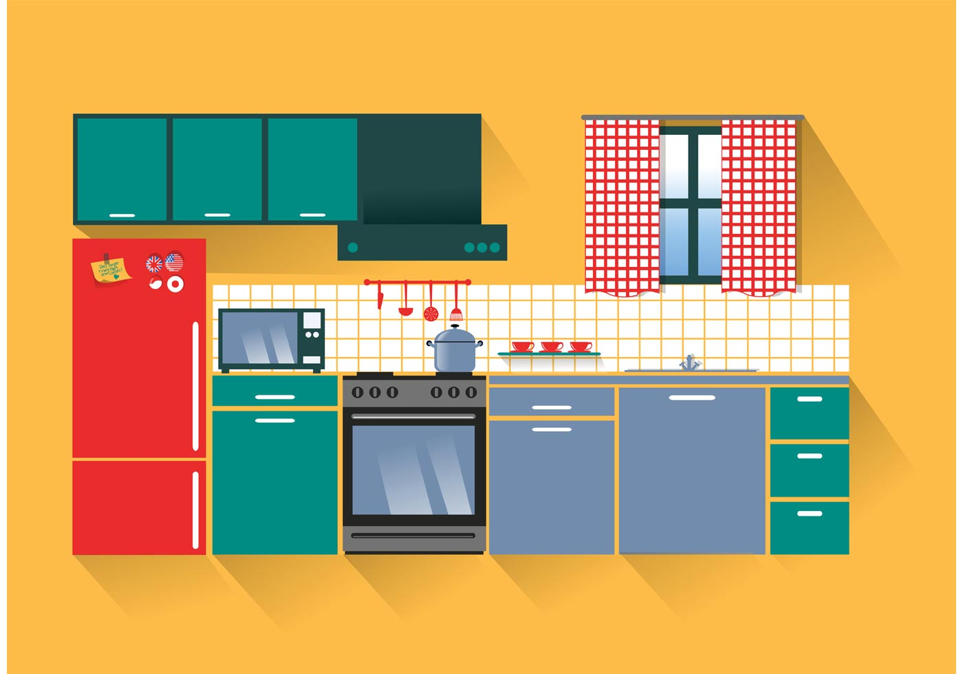 modern kitchen vector download free vector art stock graphics