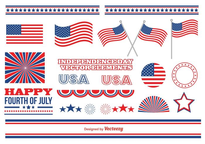 Independence Day Vector Elements