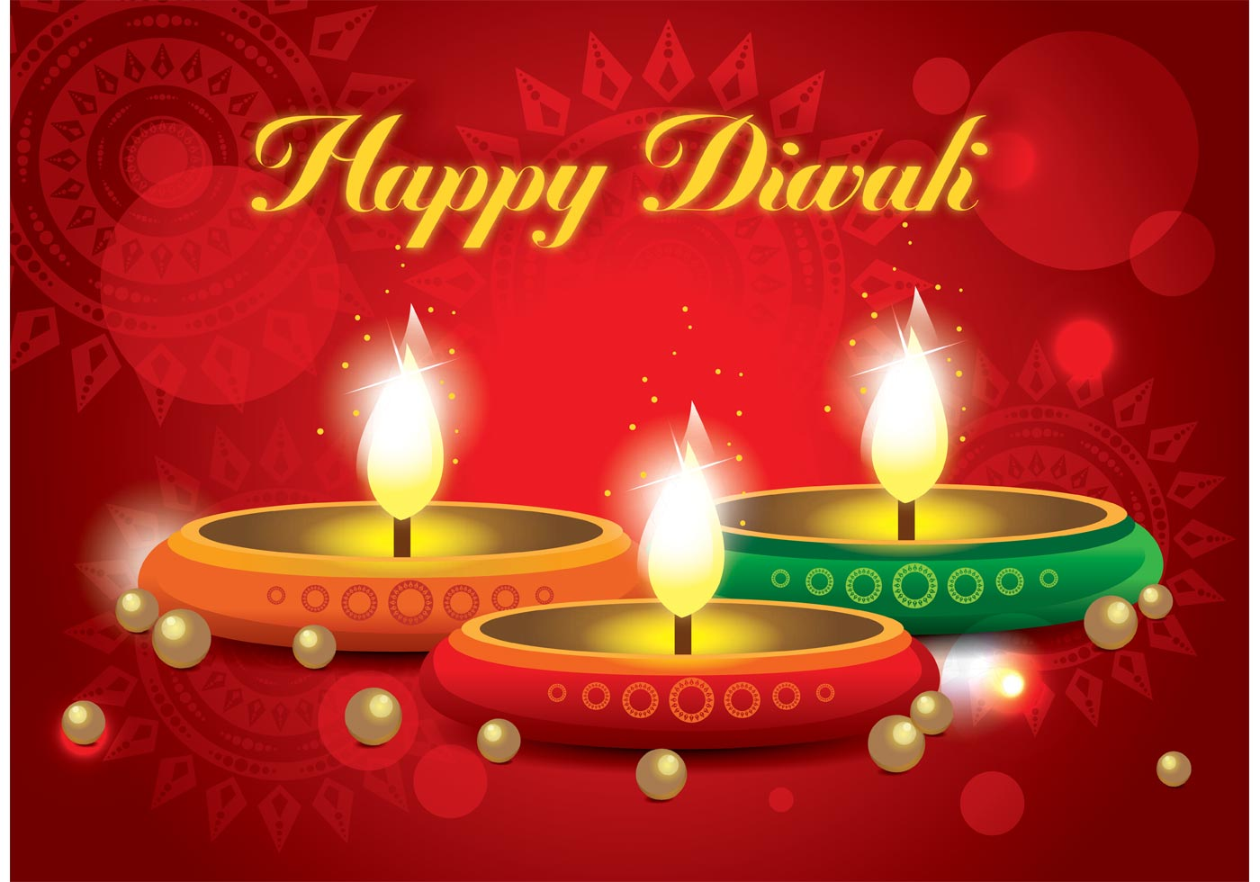 Happy Diwali Vector - Download Free Vector Art, Stock ...