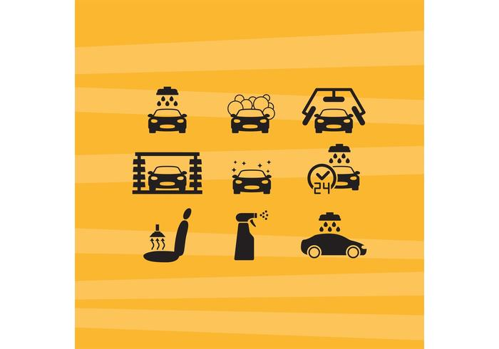 Car Wash Vector Icons