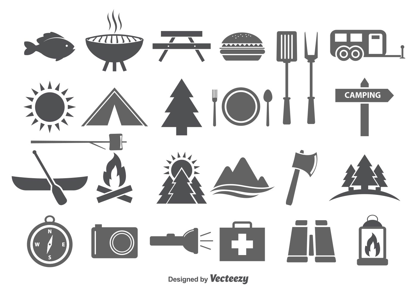 Camping Amp Camp Food Vector Icons Download Free Vector
