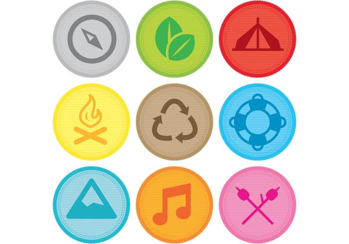 Camping Vector Award Patches