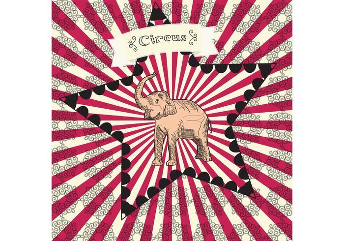 Affiche vintage de vecteur de cirque