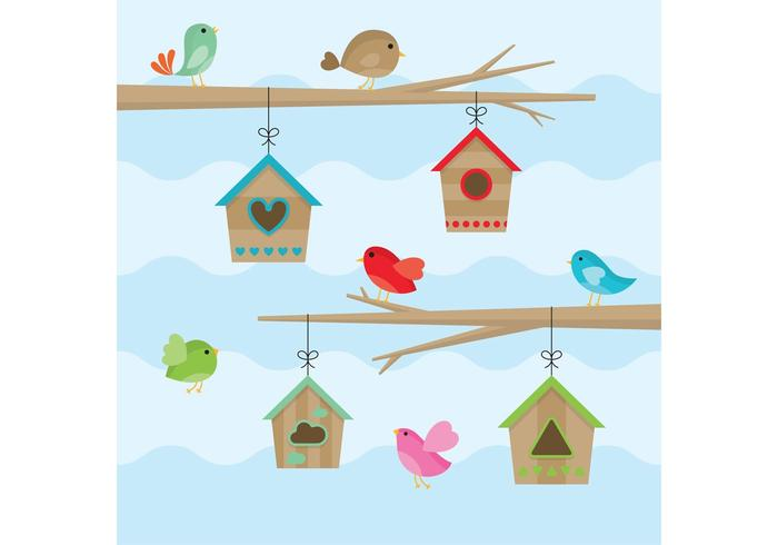 Birds House Vectors
