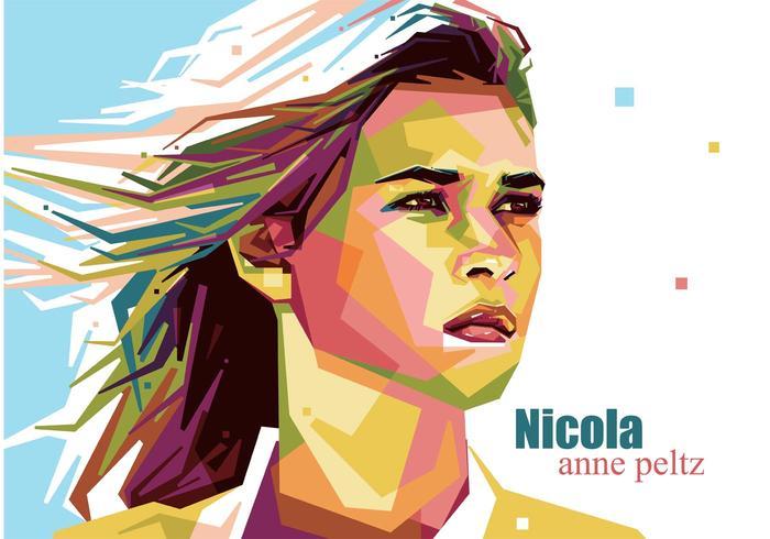 Nicola Anne Peltz Vector Porträtt