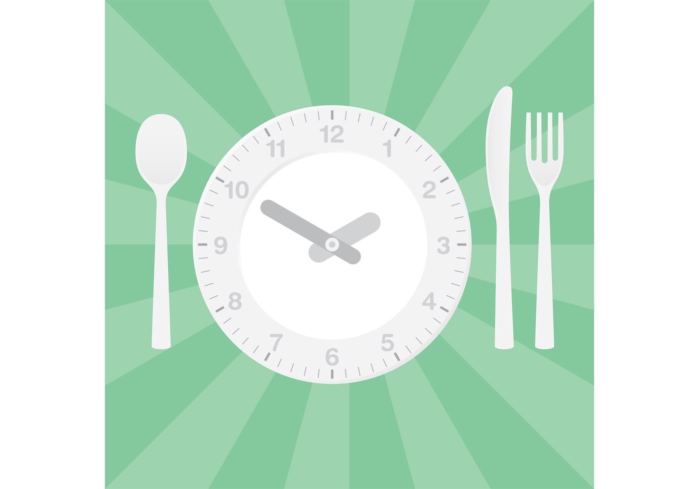 Clock Vector Dinner Table Setting Download Free Vector