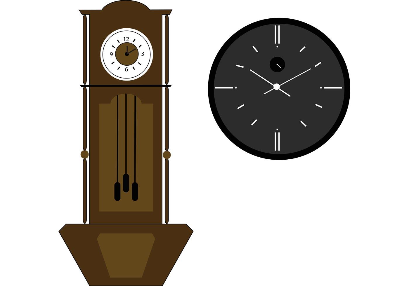 Grandfather Clock Vector Download Free Vectors Clipart