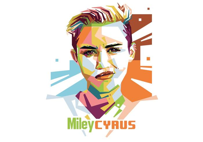 Miley Cyrus Vector Portrait