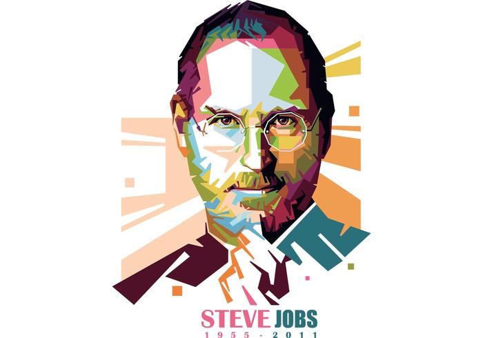 Steve Jobs Vector Retrato