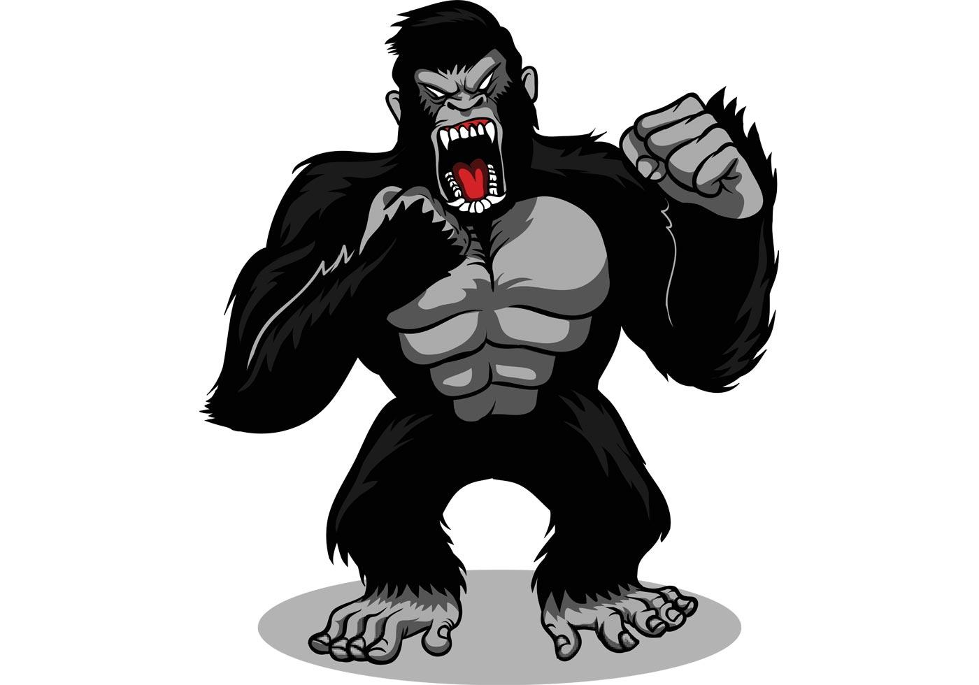 Gorilla Vector - Download Free Vector Art, Stock Graphics ... - photo#19