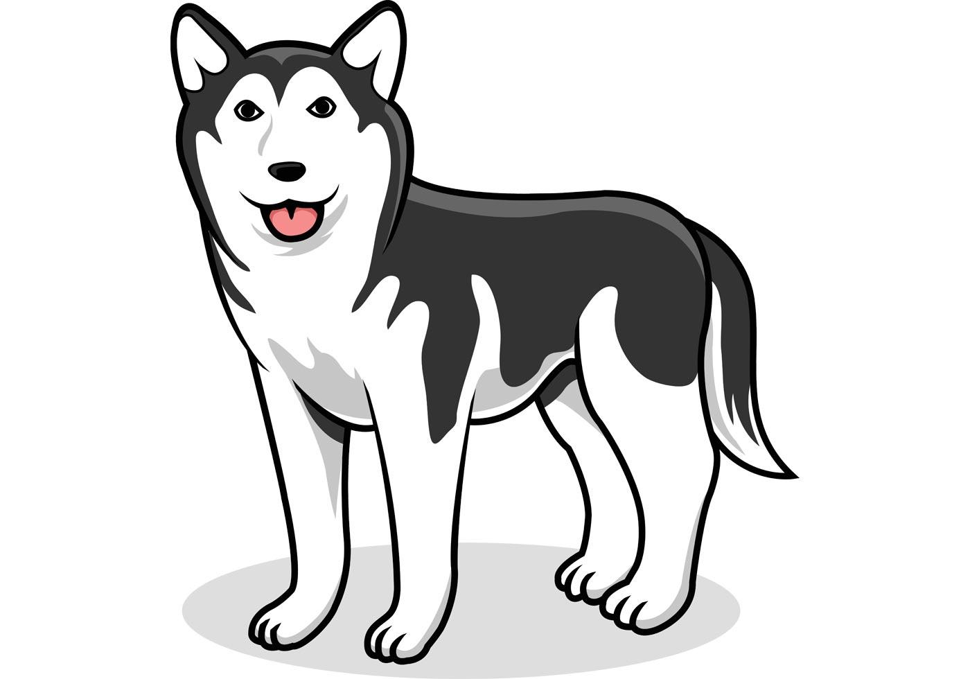 Siberian Husky Vector Dog Download Free Vector Art