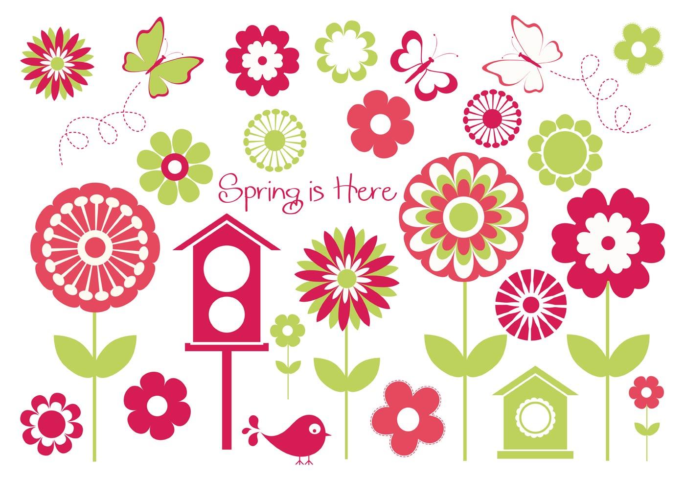 Spring Vector Elements - Download Free Vector Art, Stock ...