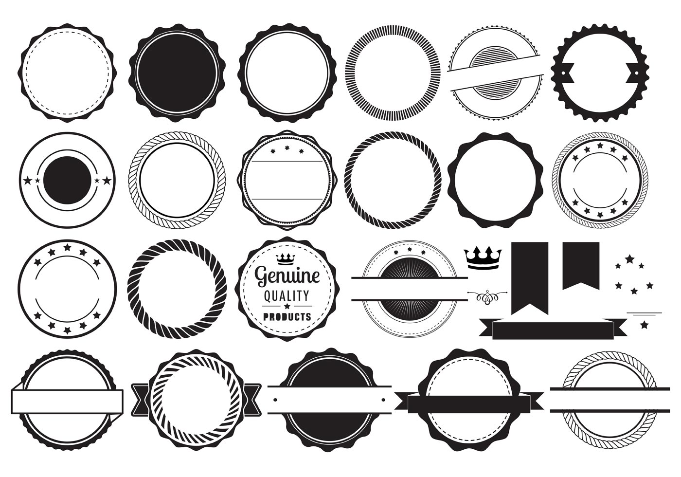 Vector Badge Elements - Download Free Vector Art, Stock ... Vintage Shape Template