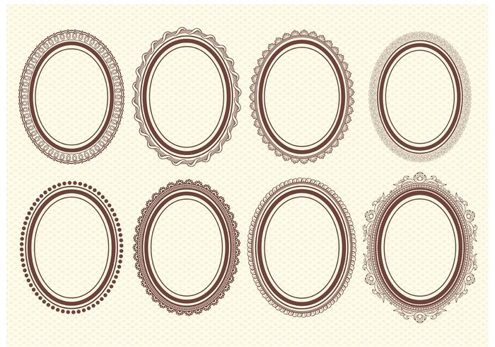 Oval Vector Frames