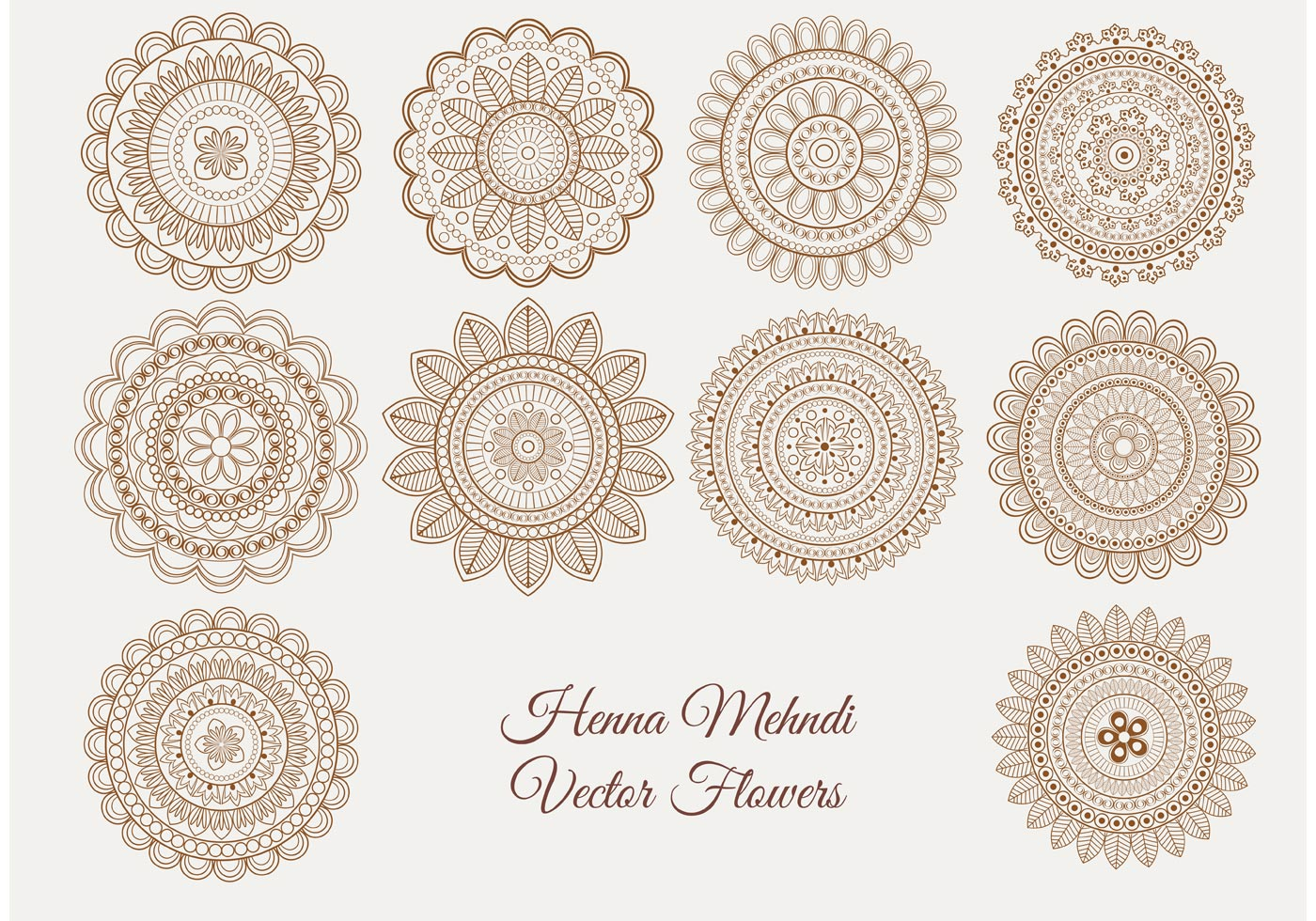 Henna Mehndi Vector Free Download : Henna mehndi vector flowers download free art stock graphics images