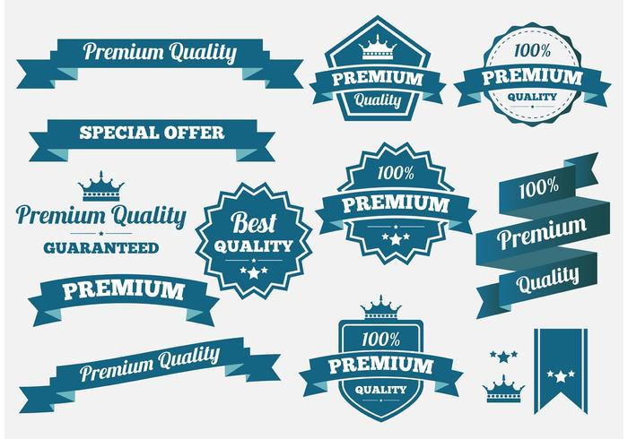 Premium Quality Vector Banners and Badges