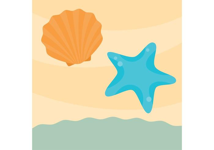 Sea Shell Vector on the Sand