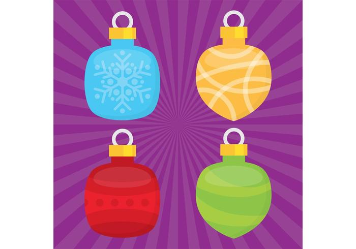 Kerst Ornament Vector Ballen