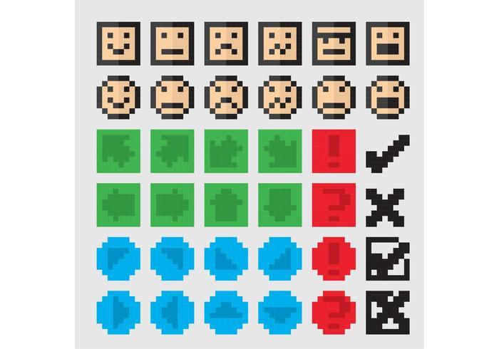 8 Bit Vector Icons