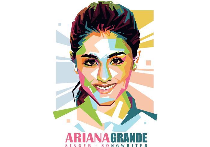 Ariana Grande Vector Porträtt