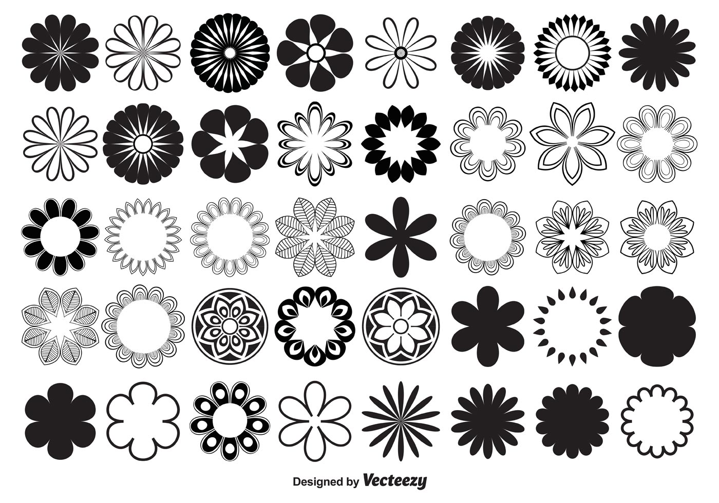 Vector Flower Shapes - Download Free Vector Art, Stock ...
