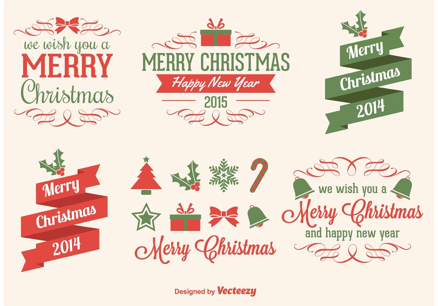 Christmas Vector Elements Download Free Vector Art