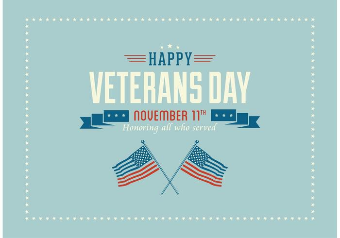 Free Happy Veterans Day Vector Wallpaper