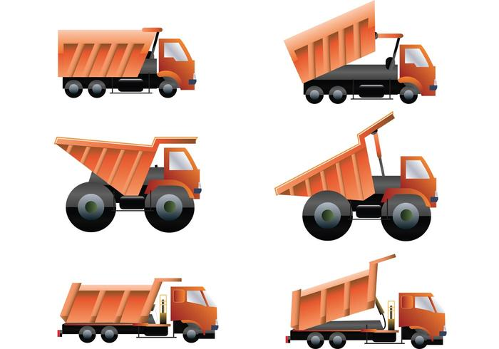 Dump Trucks Vector Pack