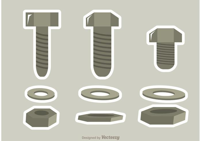 Nuts and Bolts Vectors Pack