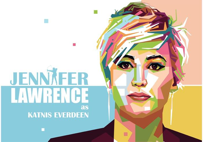 Jennifer Lawrence Vector Portret
