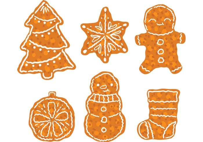 Free Christmas Dessert Vector Pack