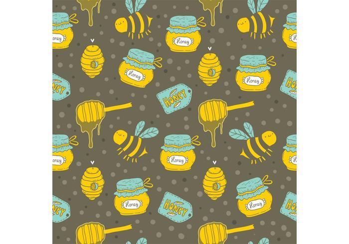 Libre de goteo de miel Vector Patrón sin fisuras