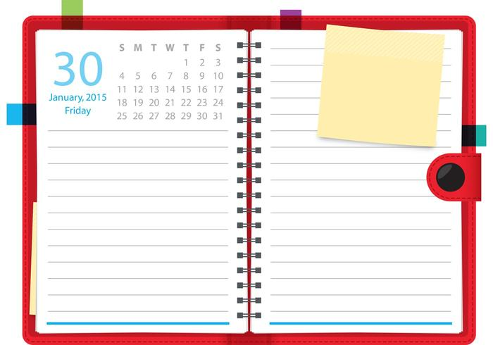 Notebook do vetor Daily Planner