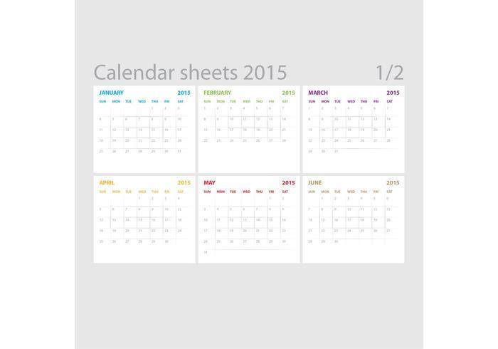 Vector Calendar Sheets 01
