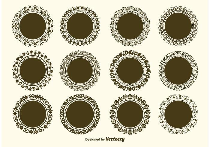 Runda dekorativa vektorgradsvektorer