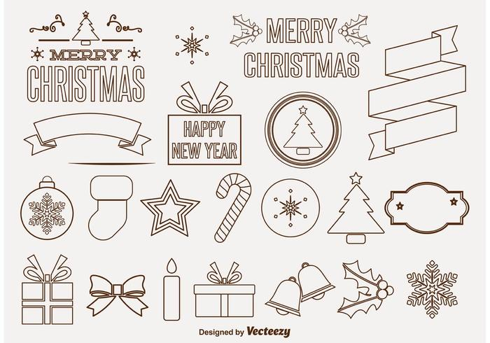 Decorative Christmas Vector Ornaments